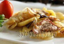 Жареная картошка с мясом