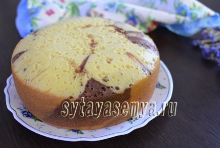 Пирог на сметане в мультиварке с какао: пошаговый рецепт с фото