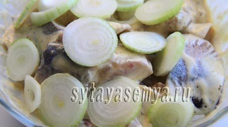 Селедка в горчичном соусе рецепт с луком и майонезом