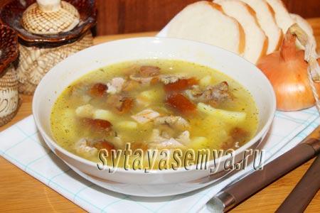 суп с грибами и мясом рецепт