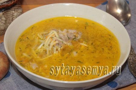 Суп со свиными ребрышками: рецепт