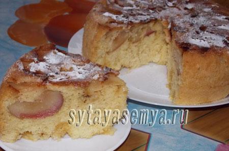 Яблочный пирог шарлотка в мультиварке
