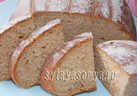 Хлеб ржано-пшеничный с отрубями: пошаговый рецепт с фото