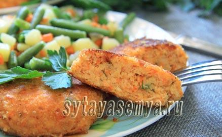 Котлеты из семги с сыром: пошаговый рецепт с фото