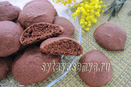Печенье с кукурузной мукой и какао