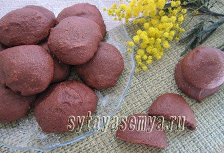 Как приготовить шоколадное печенье с кукурузной мукой