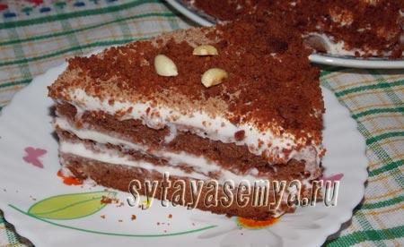 Домашний торт Красный бархат: пошаговый рецепт с фото