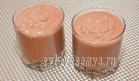 Домашний шоколадный пудинг: пошаговый рецепт с фото