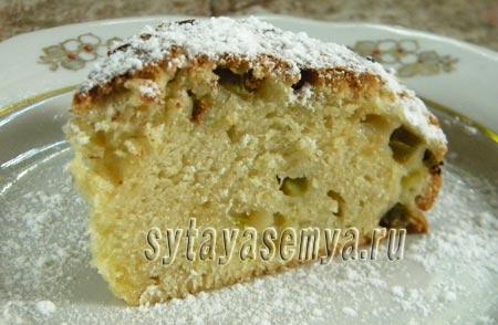 Пирог с ревенем в духовке