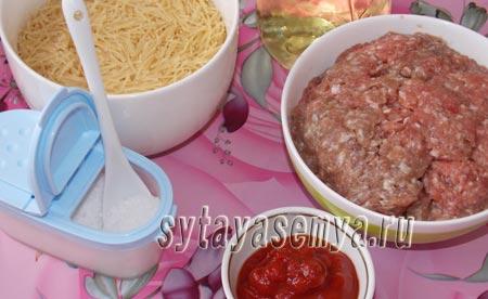 Запеканка из макарон с фаршем в мультиварке: рецепт с фото