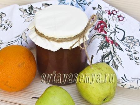 Варенье из яблок и апельсинов дольками