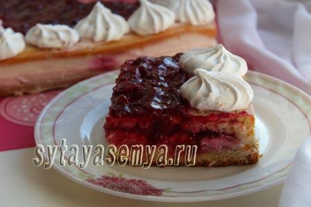 Вишневый торт рецепт