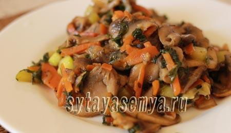 кабачки с грибами рецепт