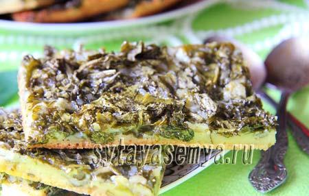 Открытый пирог с щавелем: пошаговый рецепт с фото