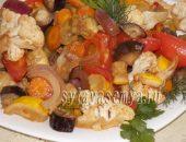 Миниатюра к статье Овощи в соевом соусе в духовке