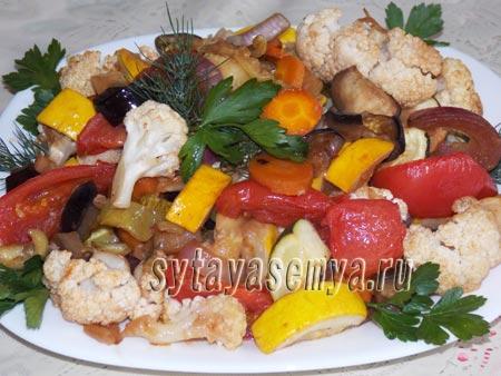 Овощи в соевом соусе в духовке рецепт с фото
