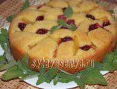 Миниатюра к статье Вкусный пирог со свежими абрикосами