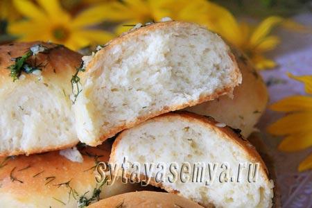 чесночные булочки к борщу