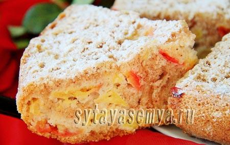 Пирог с яблоками в мультиварке, рецепт с фото