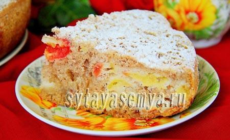 Пирог с яблоками в мультиварке рецепт с фото