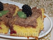 Миниатюра к статье Вкусный пирог с ягодами и штрейзелем