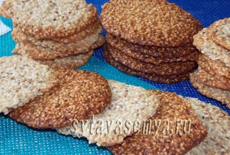 Как приготовить кунжутное печенье рецепт