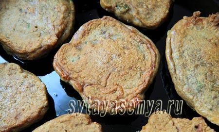 Оладьи из печени с сыром и зеленью, рецепт с фото