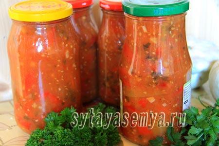 лечо в мультиварке из перца и помидор