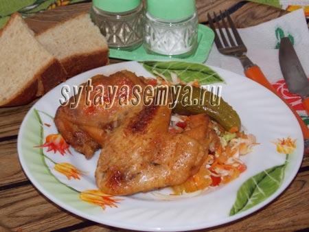 как запечь курицу в мультиварке рецепт
