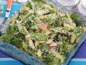 Миниатюра к статье Салат из яблок, зелени и сладкого перца