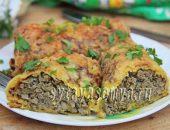 Миниатюра к статье Тыквенно-картофельные блины с начинкой из печени