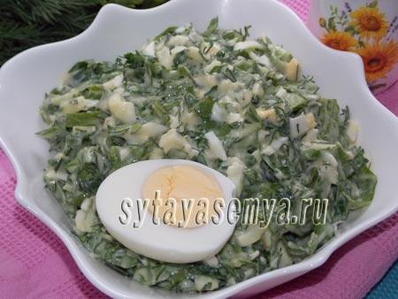 Как приготовить салат из свежей зелени