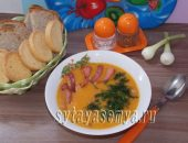 Миниатюра к статье Овощной суп-пюре с колбасой