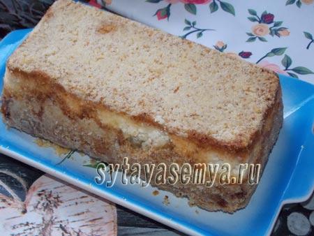 Насыпной яблочно-творожный пирог рецепт