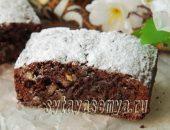 Миниатюра к статье Брауни с какао и грецкими орехами