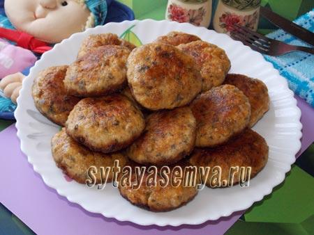 куриные котлеты с грибами рецепт