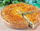 Миниатюра к статье Закрытый пирог с зеленым луком из слоеного теста