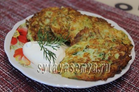 Оладушки из кабачков с сыром, пошаговый рецепт с фото