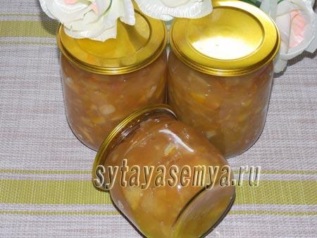 Яблочное варенье с лимоном на зиму, рецепт с фото