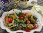 Миниатюра к статье Салат с картофелем и кальмарами