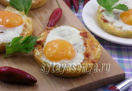 Картофельные корзинки в духовке с начинкой, рецепт с фото