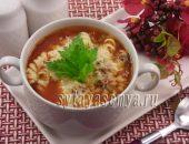 Миниатюра к статье Суп с фаршем и макаронами в мультиварке