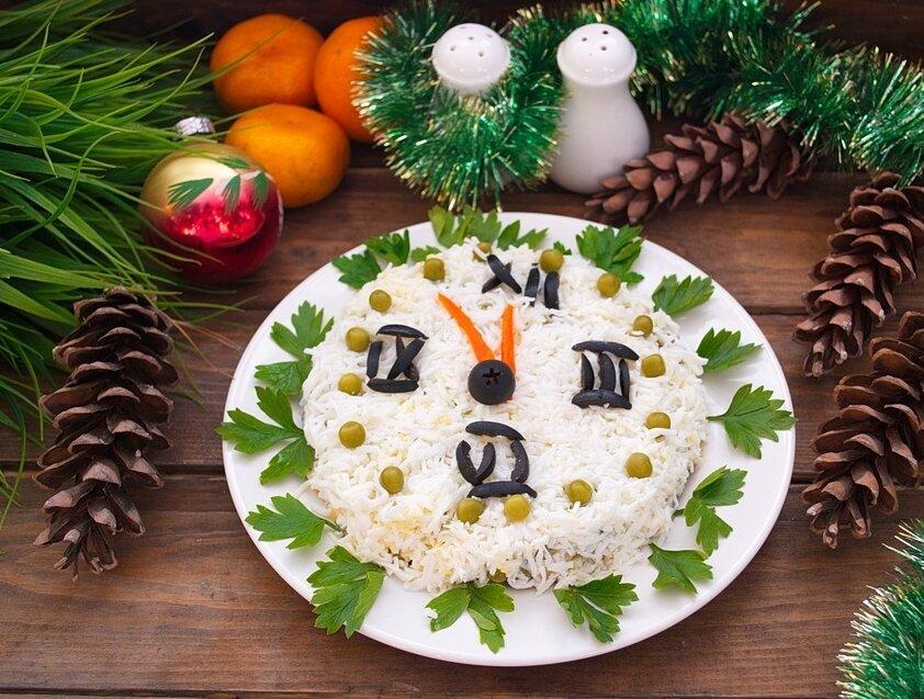 салат новогодние часы рецепт с фото для иконы