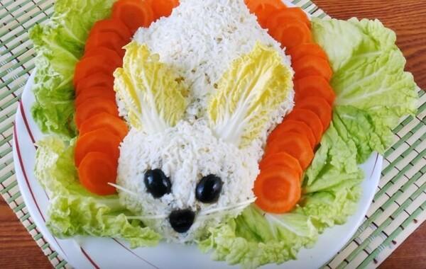 новогодний салат Кролик