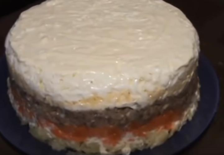 Салат Мимоза с сыром: рецепт классический пошаговый с фото, слои по порядку