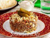 салат белорусский с печенью
