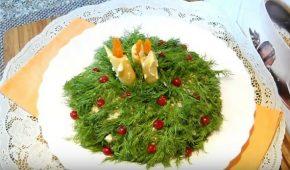 Миниатюра к статье Рецепты интересных салатов на Новый год 2021 с фото